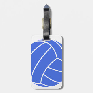 Royal Blue and White Volleyball Luggage Tag