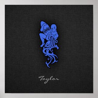 Royal Blue Aquarius Poster