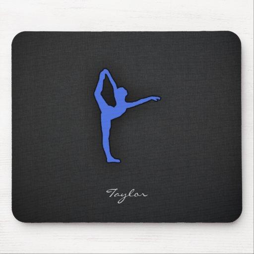 Royal Blue Ballet Dancer Mouse Pad