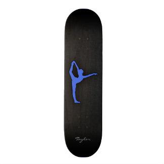 Royal Blue Ballet Dancer Skate Board Decks