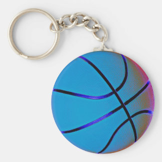 Royal Blue Basket Ball With Slight Brown Key Ring