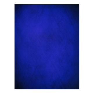 Royal Blue & Black Background Postcard