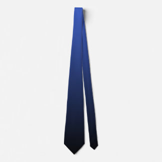 Royal Blue Black Double Sided Ombre Tie