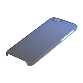 Royal Blue Black Ombre Clear iPhone 6/6S Case