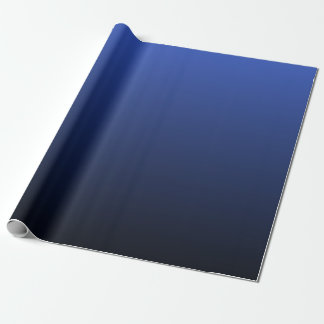 Royal Blue Black Ombre Wrapping Paper