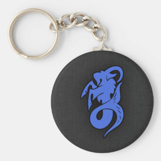 Royal Blue Capricorn Key Ring