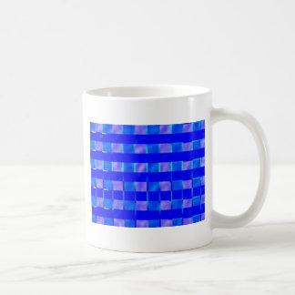 Royal Blue Check Squares Coffee Mug