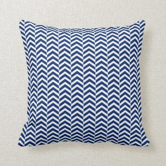 Royal Blue  Chevron Pattern Cushion