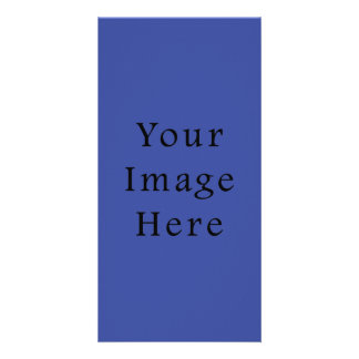 Royal Blue Color Trend Blank Template Customized Photo Card