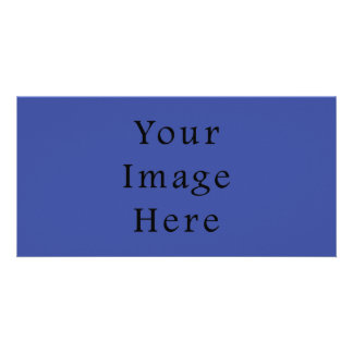 Royal Blue Color Trend Blank Template Photo Greeting Card