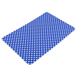 Royal Blue Combination Polka Dots by STaylor Floor Mat