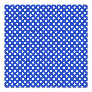 Royal Blue Combination Polka Dots Art Photo