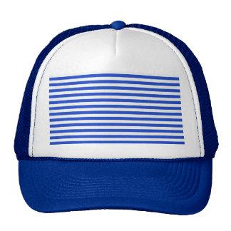 Royal Blue Combination Stripes Trucker Hat