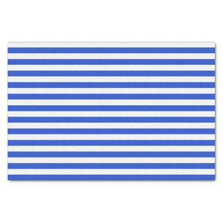 "Royal Blue Combination Stripes 10"" X 15"" Tissue Paper"