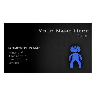 Royal Blue Cowboy Double-Sided Standard Business Cards (Pack Of 100)