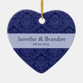 ROYAL BLUE Damask Wedding Ornament