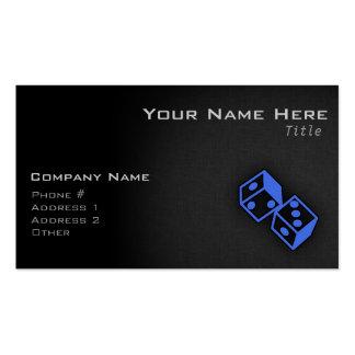Royal Blue Dice Business Card Templates