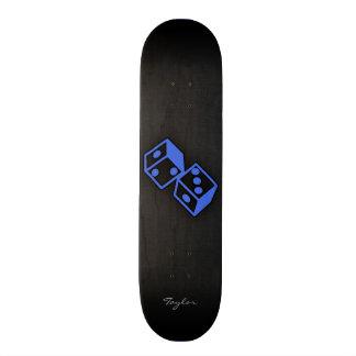 Royal Blue Dice Custom Skate Board