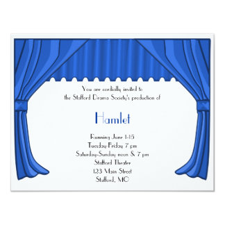 Royal Blue Drama and Theater Invitation