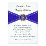 Royal Blue Elegance Monogram Wedding 13 Cm X 18 Cm Invitation Card