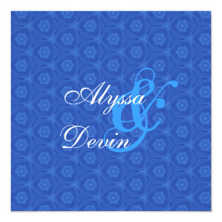 Royal  Blue Faux Stylized Snakeskin Wedding V431 Personalized Announcements