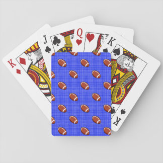 Royal Blue Football Pattern Playing Cards