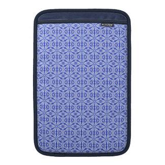 Royal Blue Fractal Pattern 11 Inch MacBook Sleeve