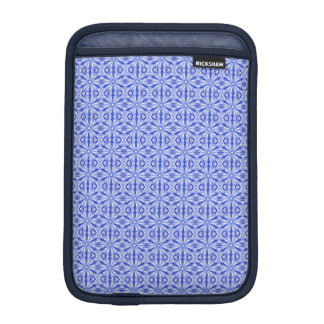 Royal Blue Fractal Pattern iPad Mini Sleeve