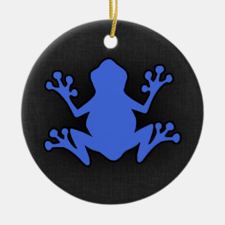 Royal Blue Frog Round Ceramic Decoration