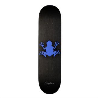 Royal Blue Frog Skate Board Deck