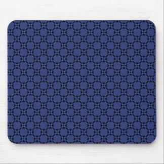Royal Blue Funky Circles Mousepad