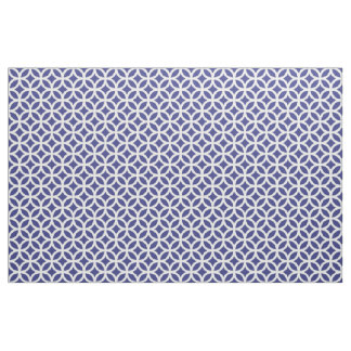 Royal Blue Geometric Pattern Fabric
