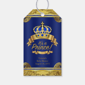 Royal Blue Gold Crown Prince Baby Shower