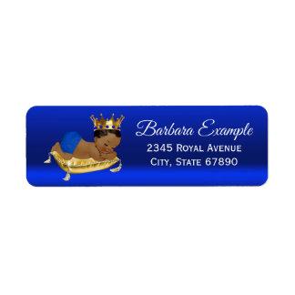 Royal Blue Gold Ethnic Prince Address Labels