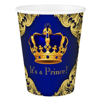 Royal Blue Gold Prince Baby Shower