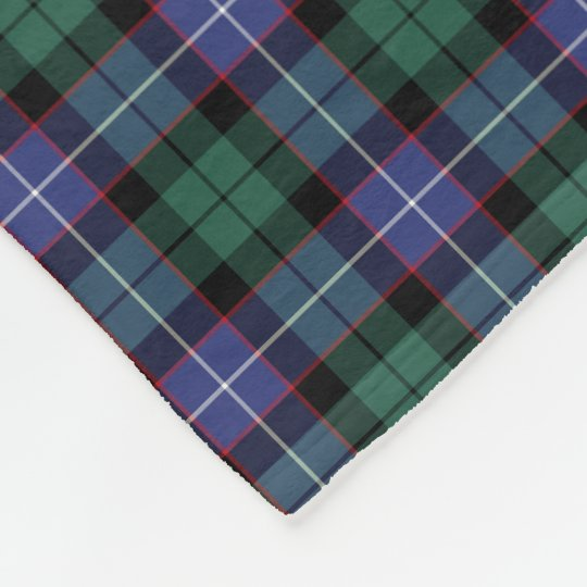 Royal Blue, Green, and Black Mitchell Clan Tartan