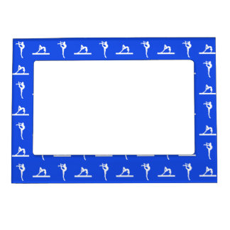 Royal Blue Gymnastics Magnetic Picture Frame