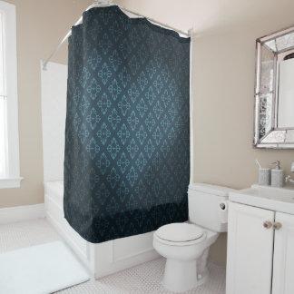 Royal Blue Heart Shower Curtain