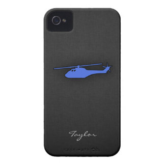 Royal Blue Helicopter iPhone 4 Cases