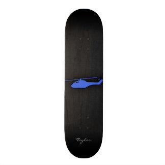 Royal Blue Helicopter Custom Skateboard