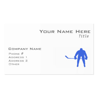 Royal Blue Hockey Business Cards