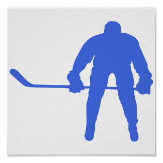 Royal Blue Hockey Poster