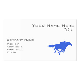 Royal Blue Horse Racing Pack Of Standard Business Cards