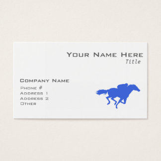 Royal Blue Horse Racing Business Card