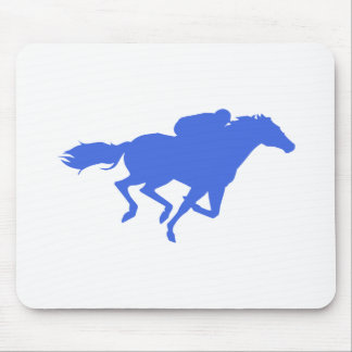 Royal Blue Horse Racing Mouse Pad