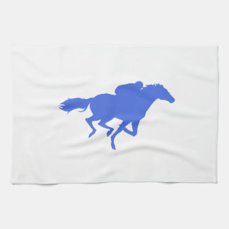 Royal Blue Horse Racing Tea Towel