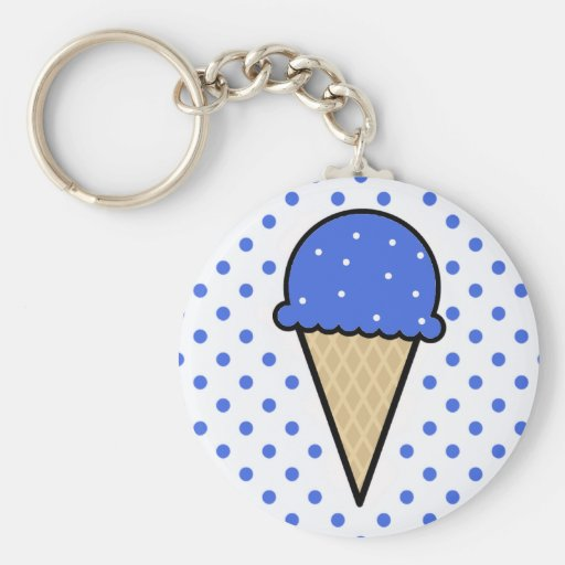 Royal Blue Ice Cream Cone Key Chains