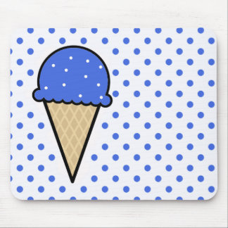Royal Blue Ice Cream Cone Mouse Pad