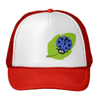Royal Blue Ladybug Trucker Hat