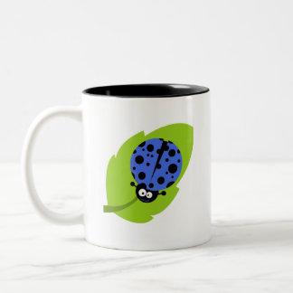 Royal Blue Ladybug Two-Tone Mug